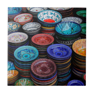 Moroccan Plates At Market Ceramic Tile