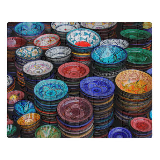 Moroccan Plates At Market Jigsaw Puzzle