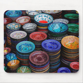 Moroccan Plates At Market Mouse Pad