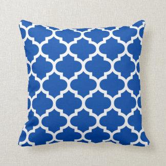 Moroccan Quatrefoil Cobalt Blue Pillow