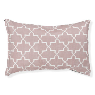Moroccan Quatrefoil Dog Bed, Dusty Pink