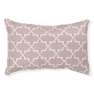 Moroccan Quatrefoil Dog Bed, Dusty Pink Pet Bed