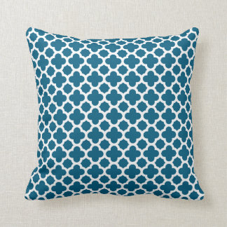 Moroccan Quatrefoil Pattern in Teal Cushions