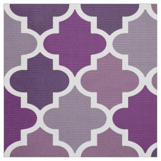 Moroccan Quatrefoil Tile Pattern | Purple Shades Fabric