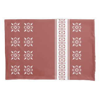 Moroccan Red Ochre French damask Standard Pillowcase
