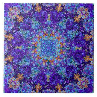 Moroccan romantic colored mandala pattern tile