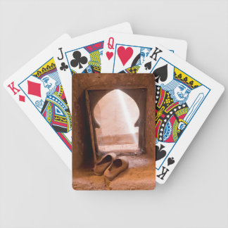 Moroccan Shoes At Window Bicycle Playing Cards