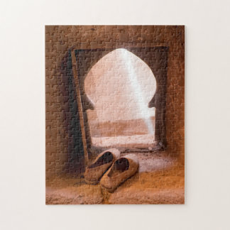 Moroccan Shoes At Window Jigsaw Puzzle