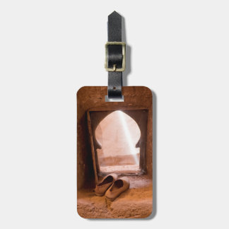 Moroccan Shoes At Window Luggage Tag
