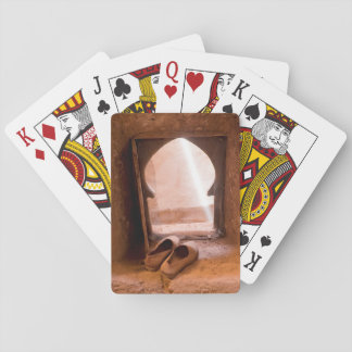 Moroccan Shoes At Window Playing Cards