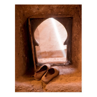 Moroccan Shoes At Window Postcard