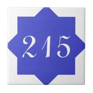 Moroccan Star Blue Number Tile