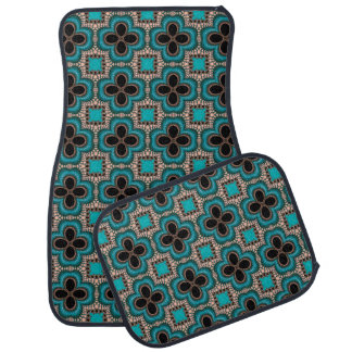Moroccan style geometric car mat set