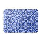 Moroccan tile - cobalt blue and white bath mat