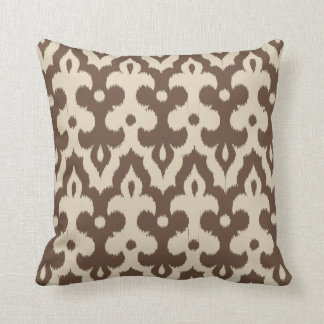 Moroccan Tile Damask Pattern, Taupe and Beige Cushion