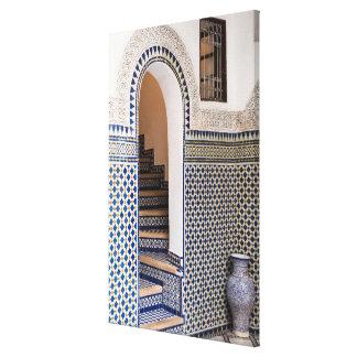 Moroccan Tiled Doorway Canvas Print