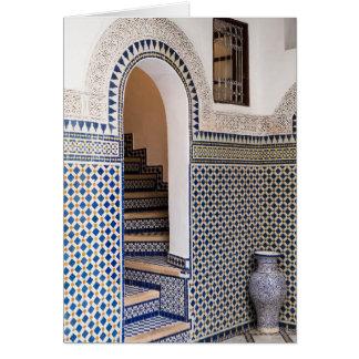 Moroccan Tiled Doorway Card