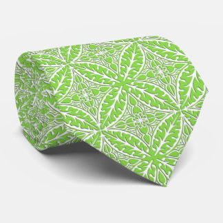 Moroccan tiles - lime green and white tie