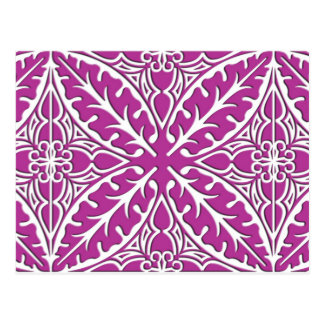 Moroccan tiles - orchid and white postcard