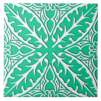 Moroccan tiles - turquoise and white