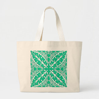 Moroccan tiles - turquoise and white bags