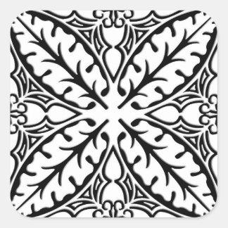 Moroccan tiles - white and black square sticker