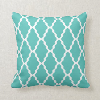 Moroccan Trellis Pillow in Turquoise