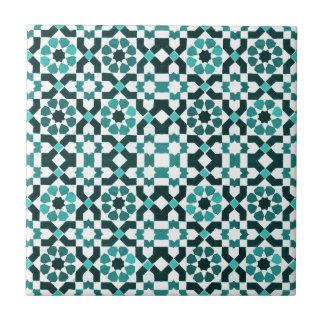 Moroccan Turquoise Pattern Tile