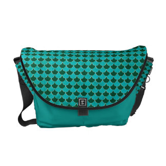 Moroccan Turquoise Scale Pattern Courier Bags