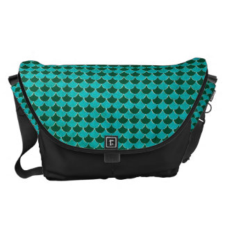 Moroccan Turquoise Scale Pattern Messenger Bags