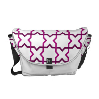 Moroccan weave pattern messenger bags