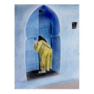 moroccan woman postcard