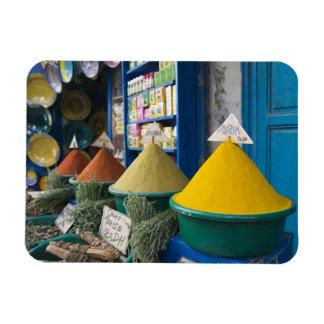 MOROCCO, Atlantic Coast, ESSAOUIRA: Spice Market Rectangular Photo Magnet