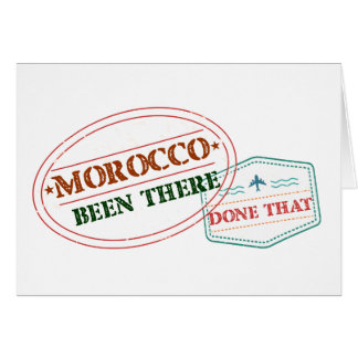 Morocco Been There Done That Card
