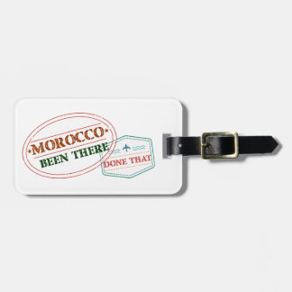 Morocco Been There Done That Luggage Tag