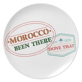 Morocco Been There Done That Plate