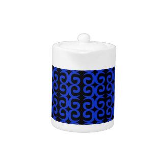 MOROCCO BLUE BLACK Fashion handdrawn Art