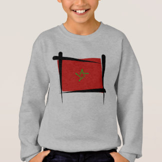 Morocco Brush Flag Sweatshirt