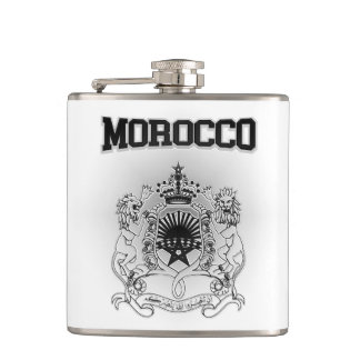 Morocco Coat of Arms Hip Flask