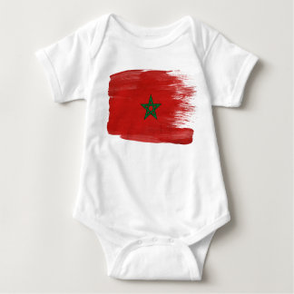 Morocco Flag Baby Bodysuit