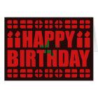 Morocco Flag Birthday Card