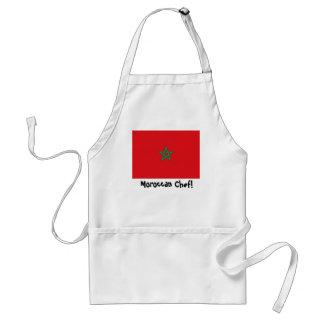 Morocco flag chef apron