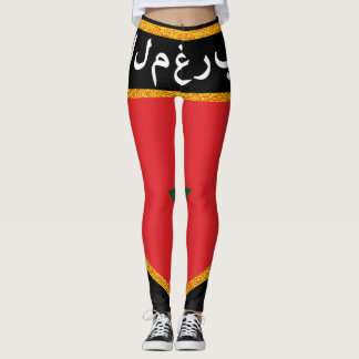 Morocco Flag Leggings