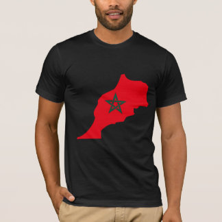 Morocco Flag Map full size T-Shirt