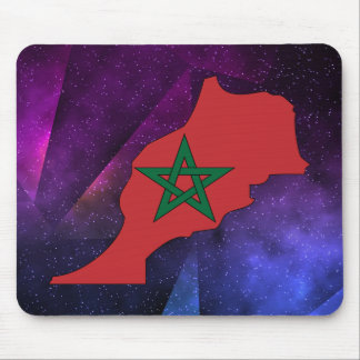 morocco Flag Map on abstract space background Mouse Pad