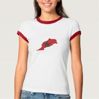 Morocco Flag Map T-Shirt