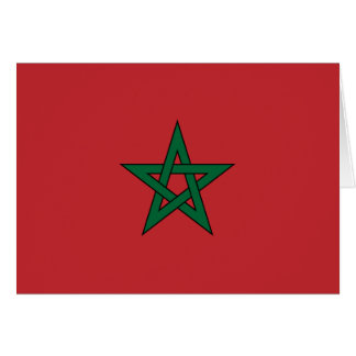 Morocco Flag Note Card