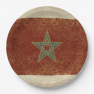 Morocco Flag Paper Plates
