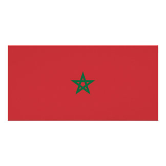 Morocco Flag Picture Card
