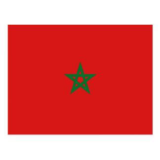 Morocco Flag Postcard